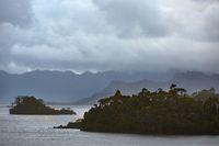 Mysterious lake landscape