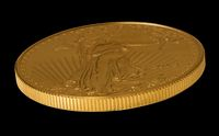 Side view of Gold Eagle one ounce coin