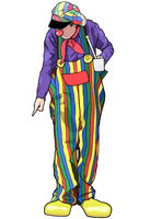Happy Clown with Colorful Pants