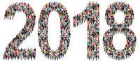 Jahr 2018 Neujahr Neu Neues Leute Menschen People Gruppe Menschengruppe