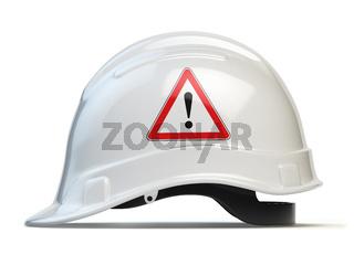 White hard hat, safety helmet isolated on white