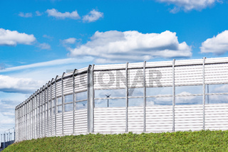Noise protection fence.