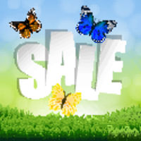 Sale Banner With Grass Border