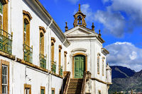 Ancient and historical church in Ouro Preto city