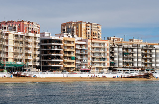 Beach Los Locos in the Torrevieja resort city. Spain