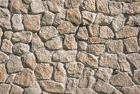 Braune Natursteinwand