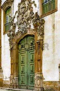 Facade of the church of Saint Francis of Paula