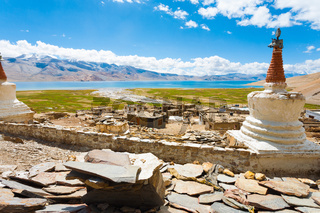Ladakh Tso Moriri Lake Korzok Village Monastery H