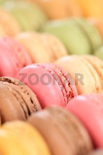 Macarons Macaroons Kekse Nachtisch Dessert aus Frankreich hochkant