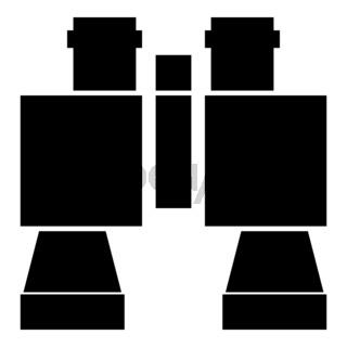 Binocular pair of glasses icon black color illustration flat style simple image