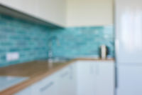 Abstract blur of home kitchen
