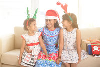 Indian children celebrating Christmas
