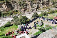 Treffpunkt für den Inkatrail nach Machu Picchu Peru