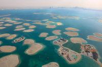 Dubai The World Welt Insel Inseln Deutschland Österreich Schweiz Libanon Panorama Luftaufnahme Luftbild