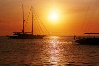 Sunset in Formentera. Balearic Islands. Spain