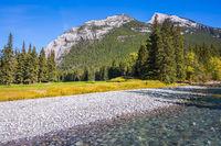 Autumn sunny day in Banff