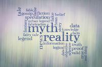 myth and reality word cloud
