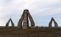 der Steinkreis Arctic Henge in Raufarhöfn im Nordosten von Island