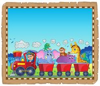 Train with animals theme parchment 1