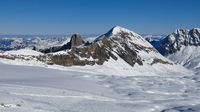 View from the Diablerets glacier ski area.