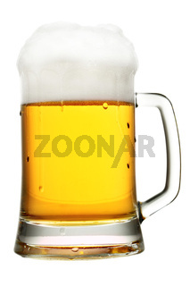 Mug of beer with froth
