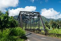 Old metal girder bridge on road to Hanalei Kauai