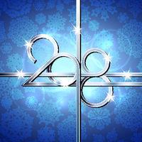 Happy New Year 2018 text design.