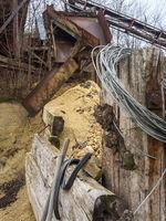 Maschinen im alten Bergwerk