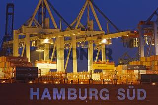 Containerterminal Burchardkai, Hamburg, Deutschland, Europa