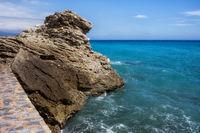 Rock at Mediterranean Sea in Nerja