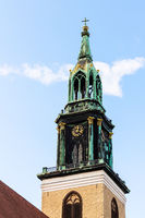 steeple of St. Mary's Church in Berlin