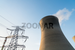 cooling tower at dusk