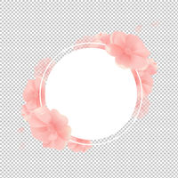 Banner With Flowers And Transparent Background