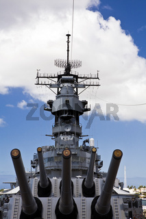 Guns of the Battleship USS Missouri