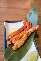 grilled taraba king crab