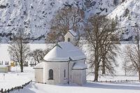 Kapelle am Achensee im Winter