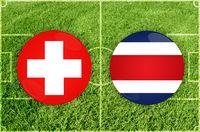 Switzerland vs Costa Rica football match
