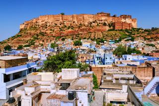 Mehrangarh Fort, blue city of Jodhpur, India