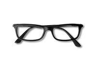 Black glasses isolated on white