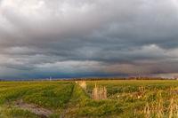 Abendwolken über Rysum in Ostfriesland