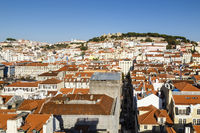 Lissabon mit Burg, Portugal, Lisbon with castle, Portugal