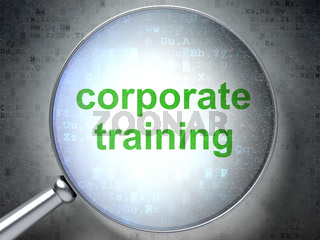 Learning concept: Corporate Training with optical glass
