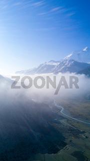 Manang Valley Clouds Annapurna Himalaya Mountains
