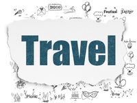 Holiday concept: Travel on Torn Paper background