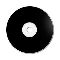 Black CD - DVD mockup template isolated on white