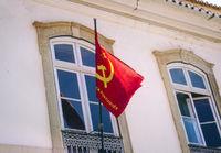 Fahne der Portugiesischen Kommunistischen Partei