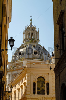Church of Santa Maria di Loreto in Rome Italy
