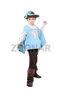 Little musketeer with a sword