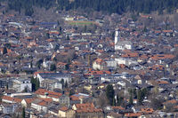 View to Garmisch-Partenkirchen in spring