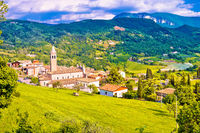 Picturesque village of Pazzon panoramic view